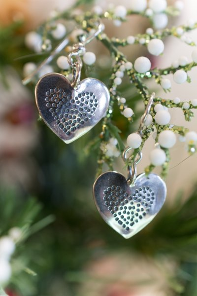 Heart Coin Earrings