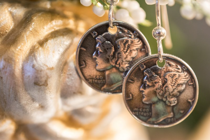 Mercury Coin Earrings