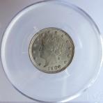 1906 Liberty Nickel, MS-63, PCGS, Cert. No. 3867.63/27581119