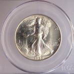 1938 Walking Liberty Halves, PCGS, MS-64, Cert. No. 6604.64/13965917