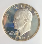 1972-S, Eisenhower Dollar, Silver Proof-68 Cameo, NGC 326631-043