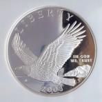 2008 P Bald Eagle Silver Dollar, PF 69 Ultra Cameo, NGC, Cert. No. 3197188-099
