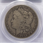 1893-S $1 PCGS VG08 Cert. No. 7226-08-25584802
